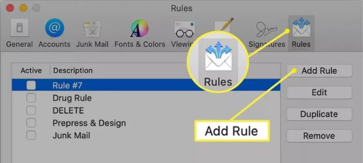 add rule for email