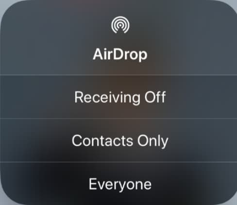 airdrop not working on iphone