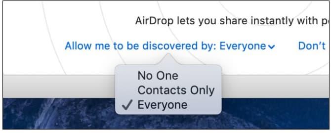 macbook airdrop not working