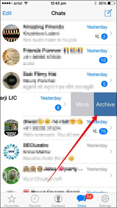archive whatsapp messages iphone