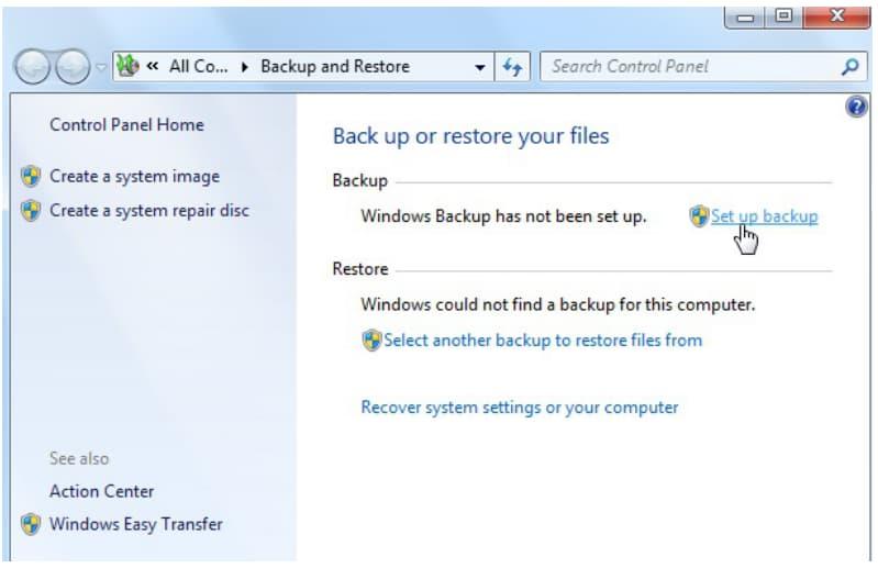 backup pc windows 7