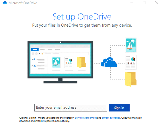 how to backup pc to onedrive