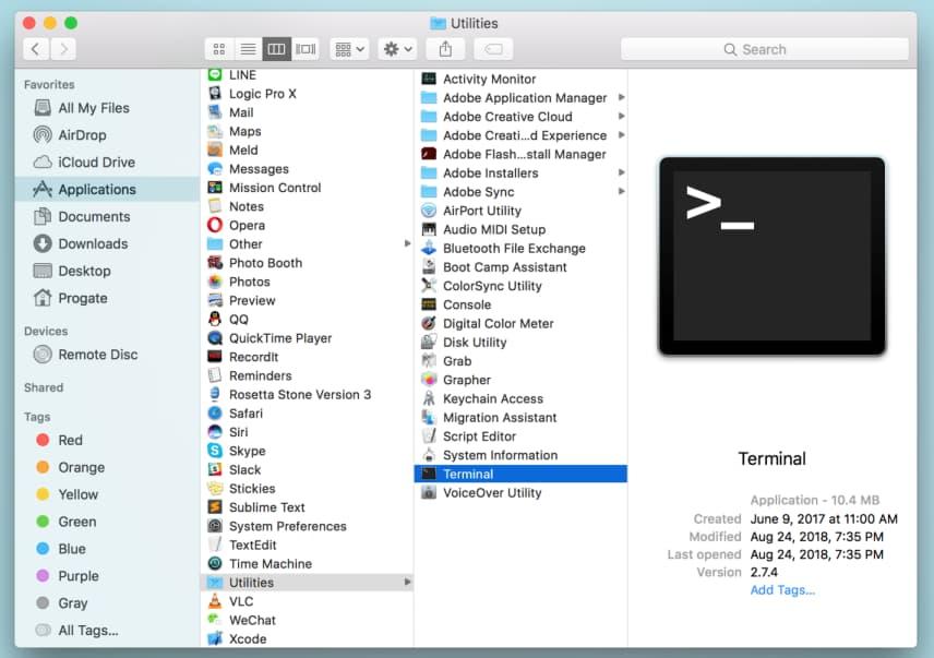 clear ram mac terminal
