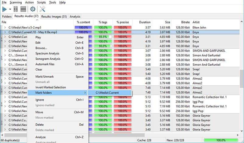 wie kann doppelte mp3 dateien finden windows 10