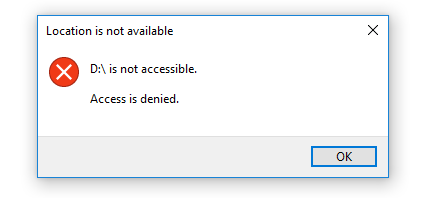 file access denied external hard drive