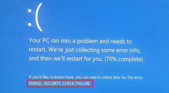 fix kernel security check failure