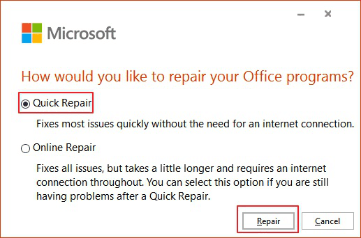 microsoft excel not work