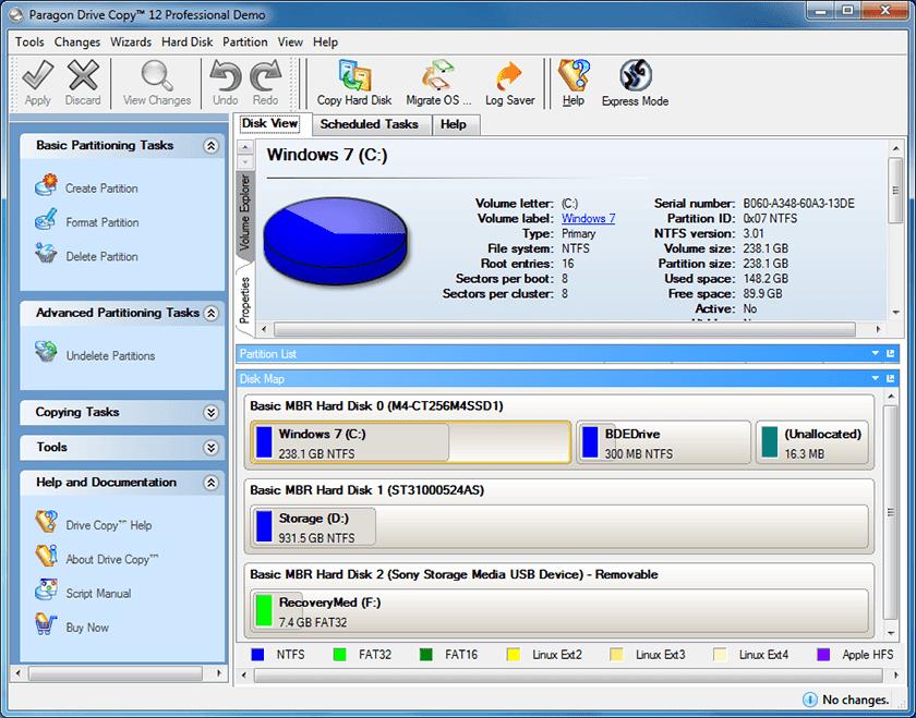 top 5 free data migration software - Paragon Drive Copy Professional