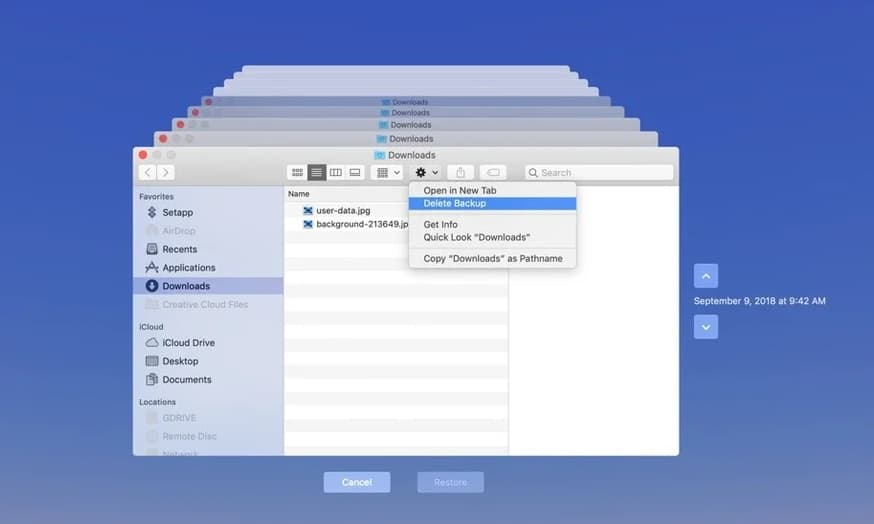 how to delete backups from my passport for mac