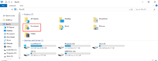open any file download windows
