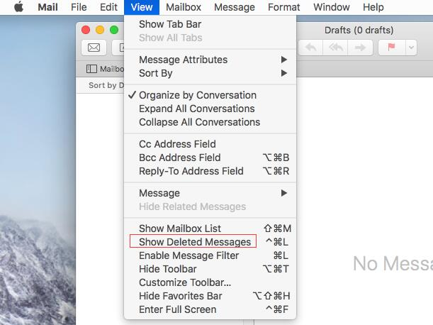 how do I recover deleted emails in apple mail