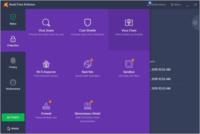 how to recover deleted files from avast free antivirus