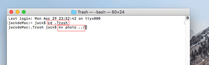restaurar archivos en mac