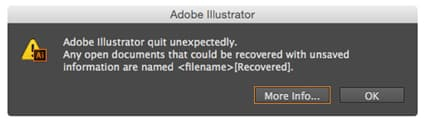 recover unsaved illustrator file