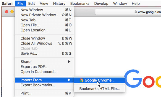 how to sync google chrome bookmarks with safari