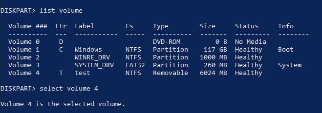 merge partitions Windows 10 cmd