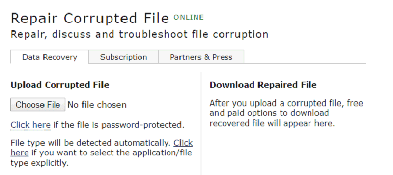 recover corrupted word file online
