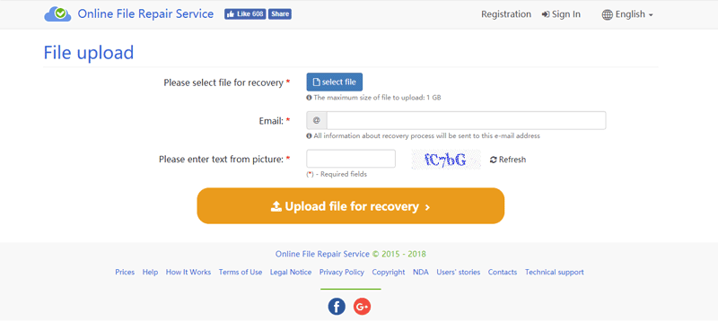 word recovery online