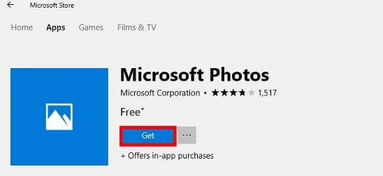 photo app not working on windows 10