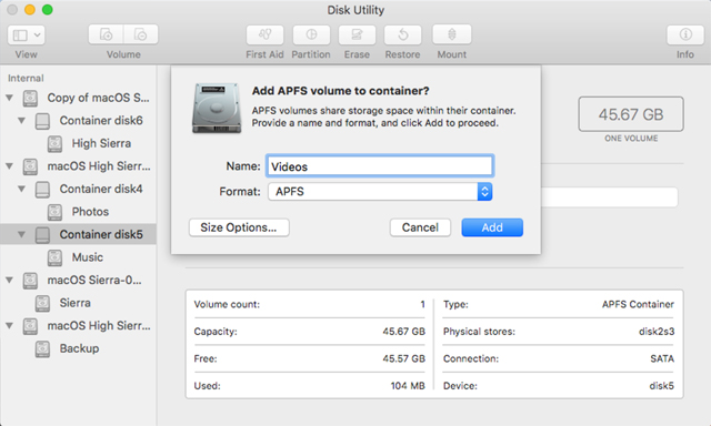 recover apfs partition mac