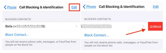 recover blocked messages on iphone
