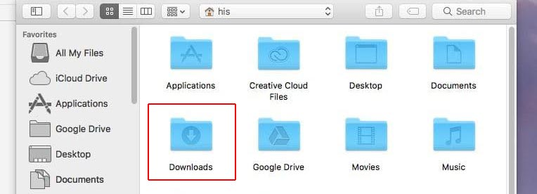 how to recover downloads folder on mac