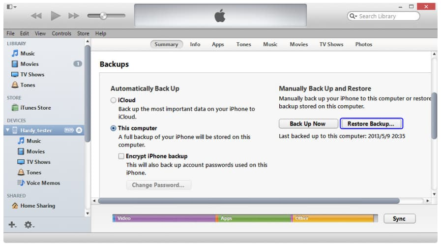 recover ipad with itunes