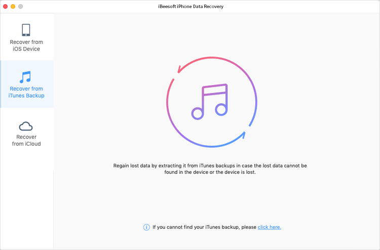 how to use iBeesoft iPhone Data Recovery for Mac