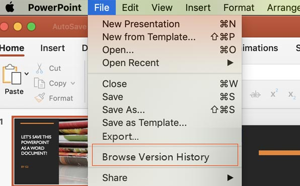 How to Recover Unsaved/Deleted/Previous PowerPoint on Mac