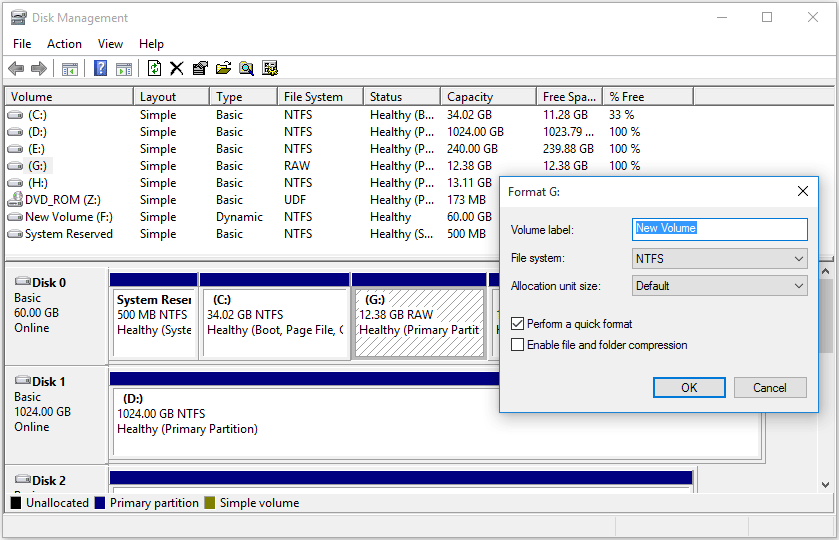 recover raw partition to ntfs without losing data