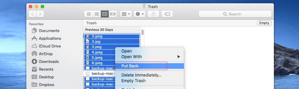 Recover Lost Files from Mac Trash