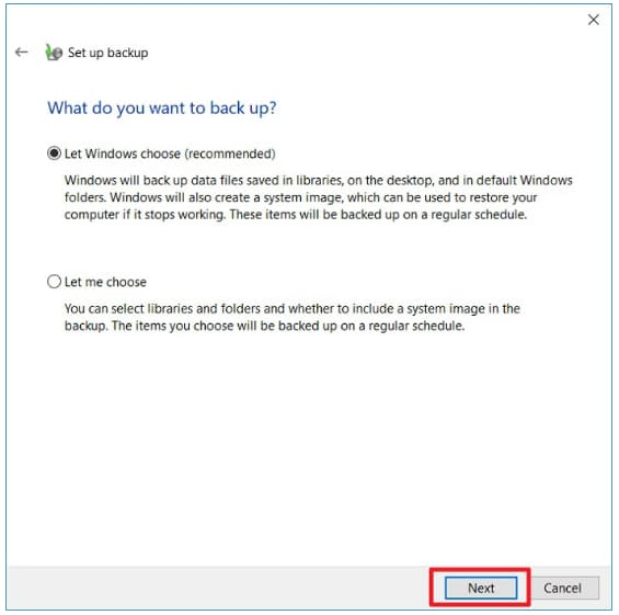 how to windows 10 backup to network drive