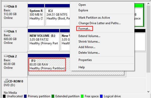 raw file system