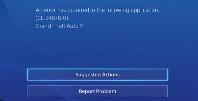 fix sony playstation 4 error code ce-34878-0