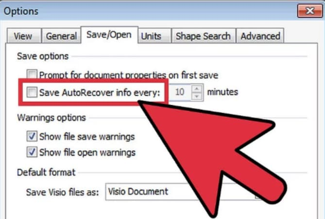 recover visio files