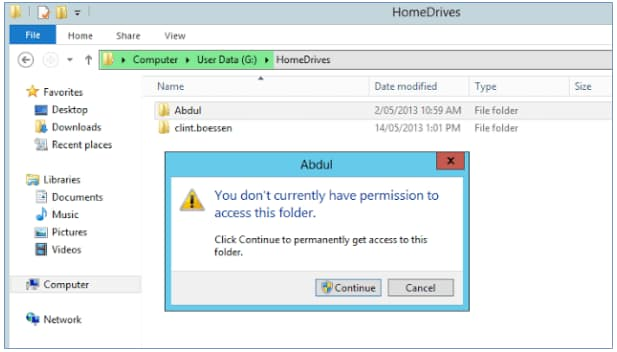 you don't currently have permission to access this folder windows 7